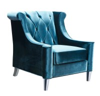 Barrister Chair (Blue Velvet & Crystal) - [LC8441BLUE ...