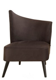 Elegant Accent Chair with Right-Flared Back (Black ...