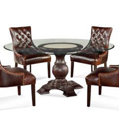 Leather Tufted Dining Chair Keekaroo Height Right High With Tray Brown Room Ideas