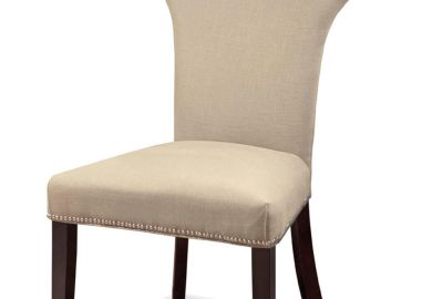 Linen Nailhead Dining Chairs