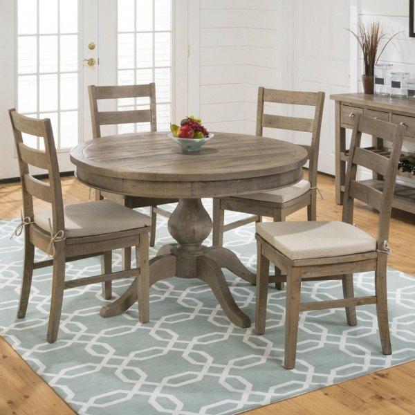 5 Piece Round Dining Table Set