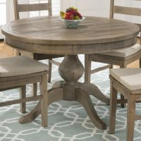 Slater Mill Pine Reclaimed Pine Round to Oval Dining Table ...