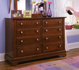 Cottage Collection Double Dresser Cherry Finish  Decor South