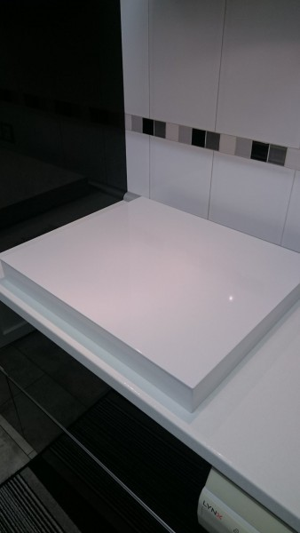 Decortapa tapas de cocina cubre encimera a medida en acero