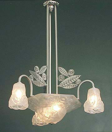 K An Impressive Degue Chandelier It Measures 33 Long And About 26 In Diameter Substantial Dimensions Brilliant Metalwork This Fixture Per The Usual
