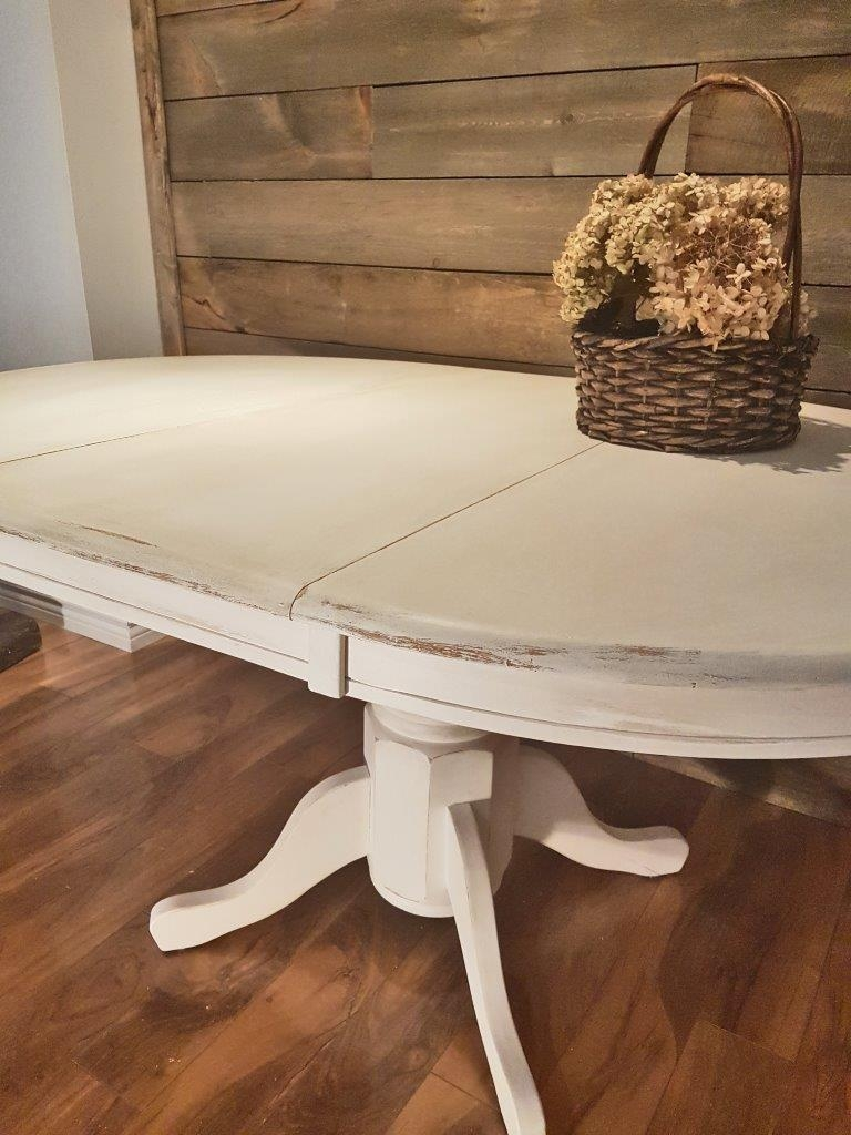 Table Cuisine Ovale Avec Pied Central