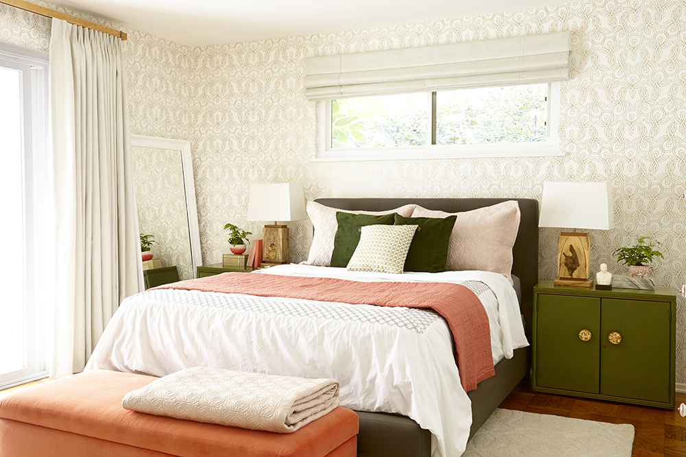 the shiniest happiest bedroom makeover