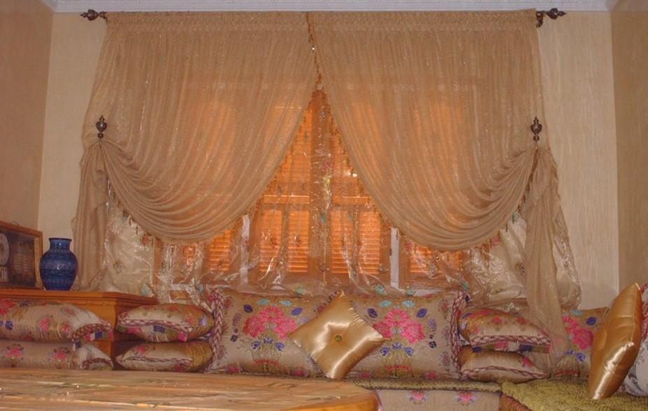 double rideaux pour salon marocain