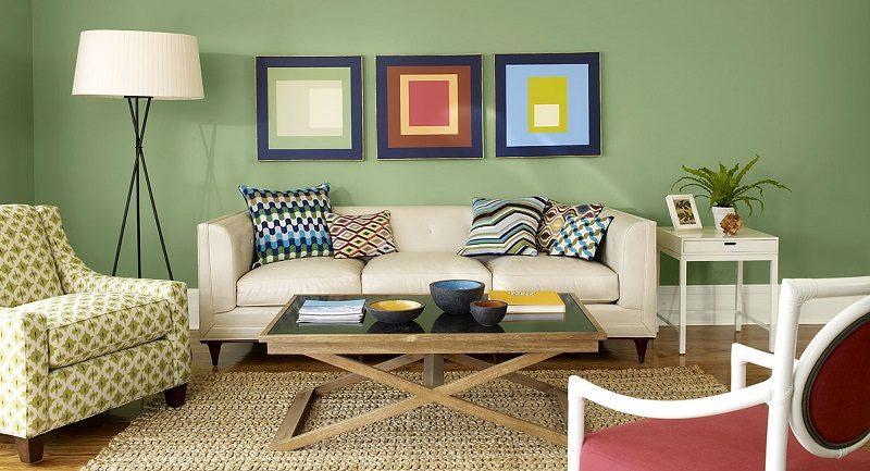 Saln minimalista en color verde  Imgenes y fotos