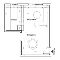 How to place furniture in my open plan living dining room?