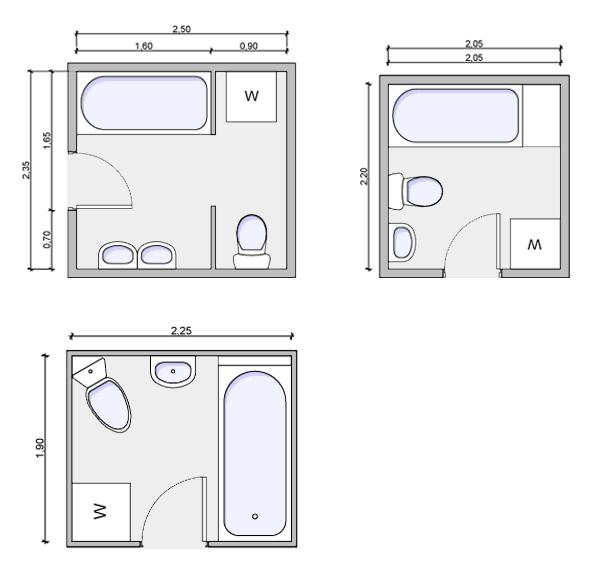 Bathroom Floorplans