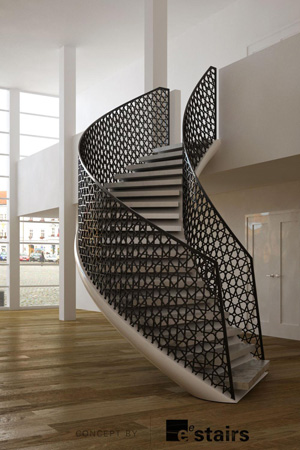 Stairs of high quality and bold design