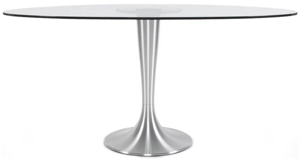 table ovale en verre jenny
