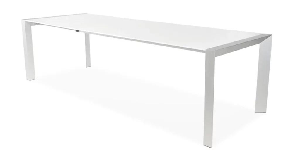 table extensible blanc laque 12 personnes domitille