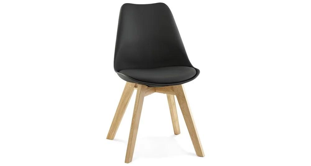 chaise scandinave noire selia
