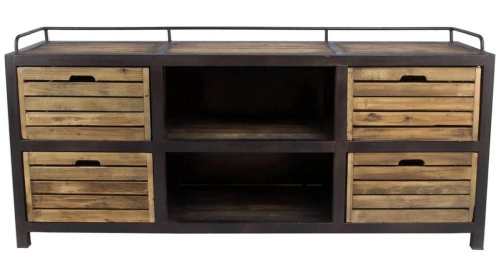 meuble tv industriel 4 casiers archibald