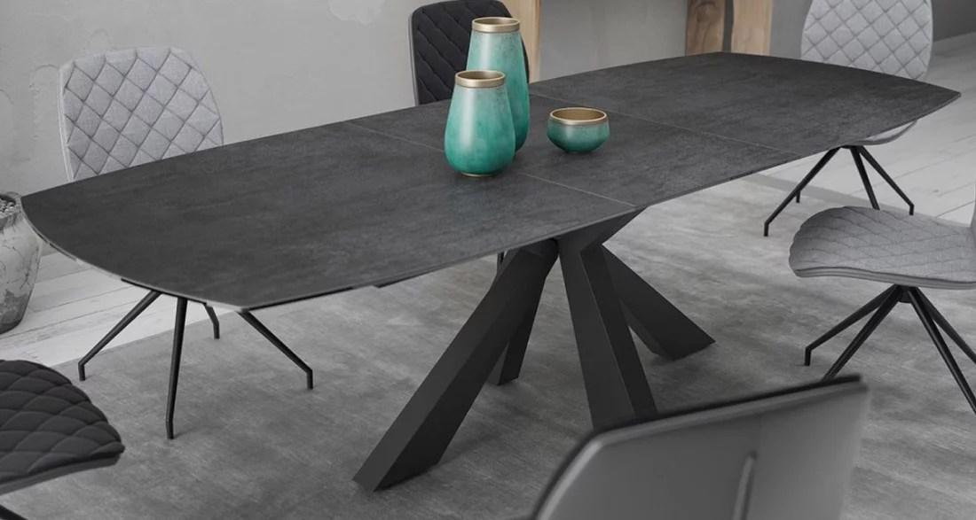 Table Repas Extensible Design Contemporain Plateau