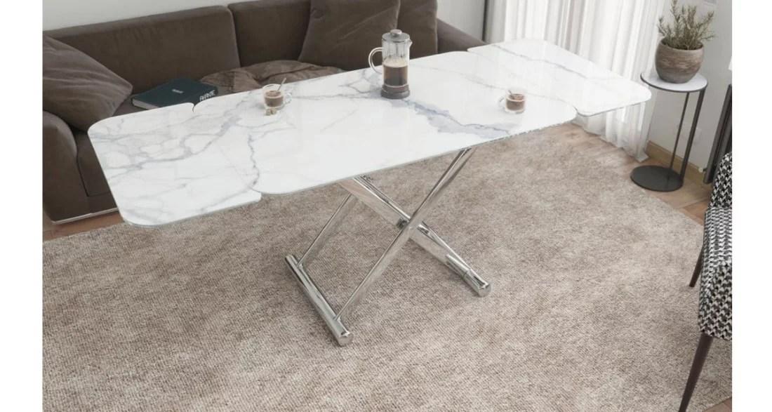 table basse et de repas extensible et