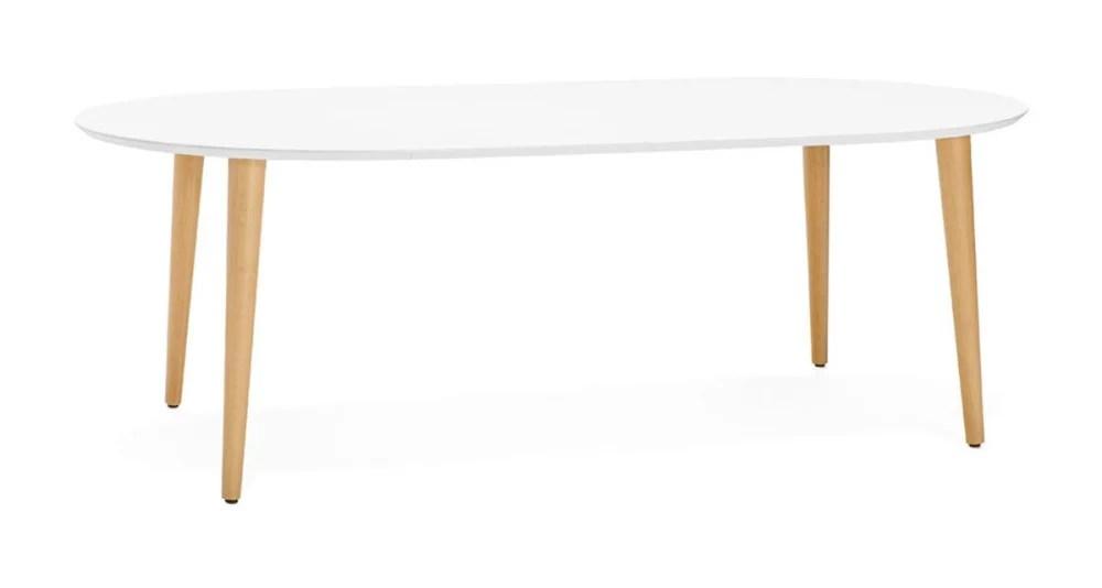 table extensible 120 220 x 120 cm en bois myriam