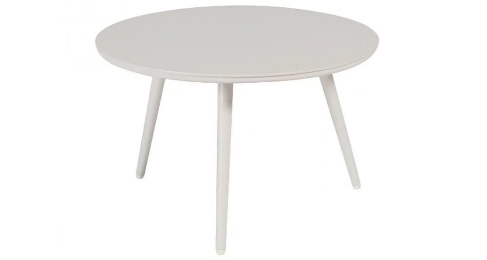 petite table basse sienna ronde en aluminium