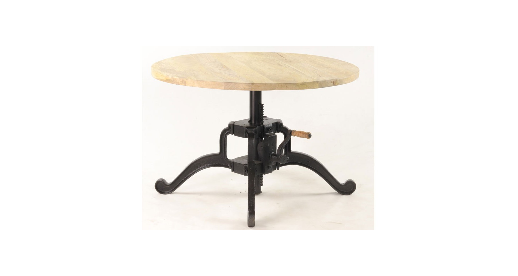 table basse industrielle ronde a