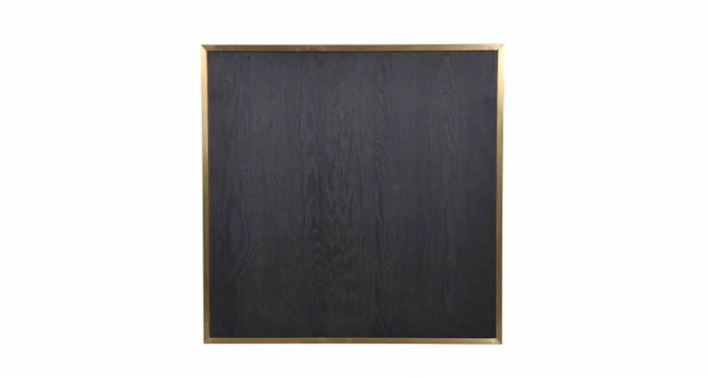 plateau de table noir et laiton