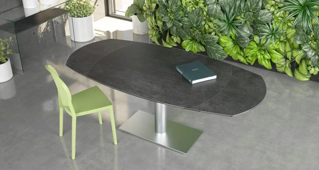 table repas ovale avec 2 rallonges