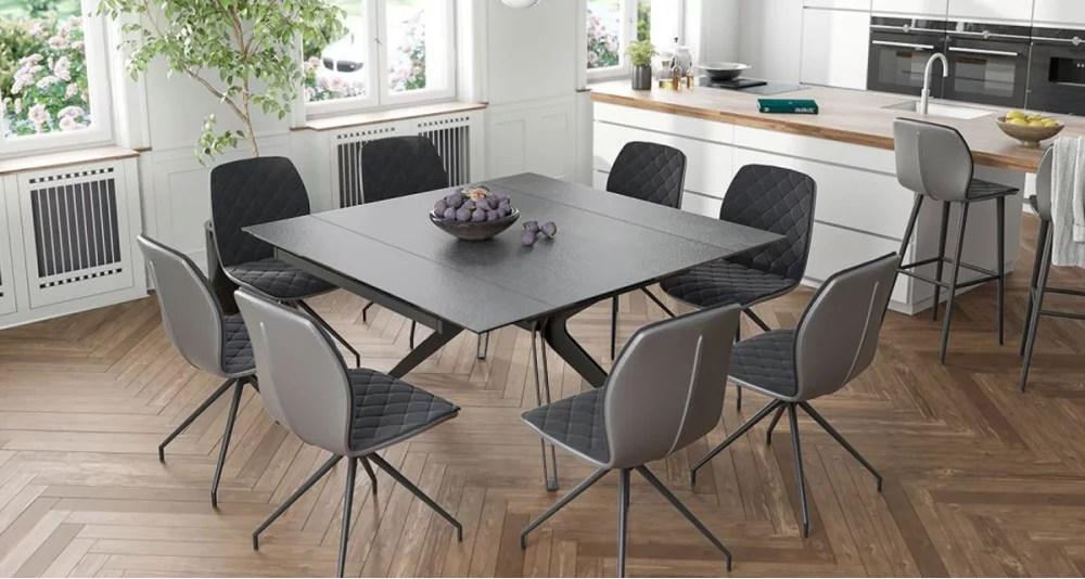 table extensible ceramique titane 8 personnes elegance