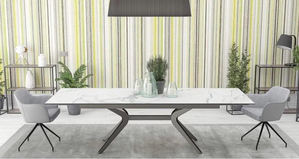 table xl a rallonge en ceramique electrical 4 coloris