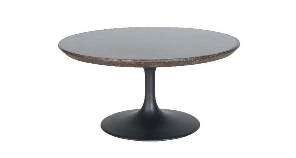 table basse ronde en pierre bleue pontiac
