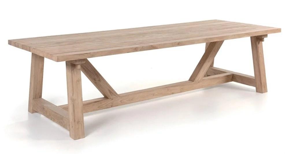 table jardin 300 cm en teck recycle highland