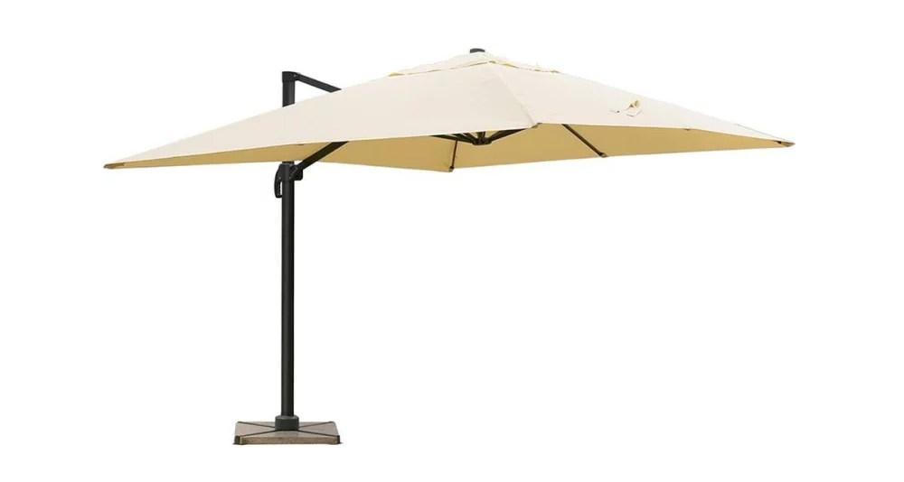 parasol 4 x 3 m deporte beige bahamas