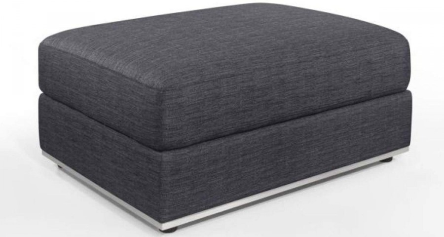 pouf gris anthracite chine paola