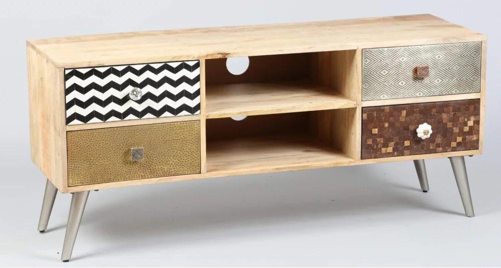 meuble tv a tiroirs multicolore pattaya