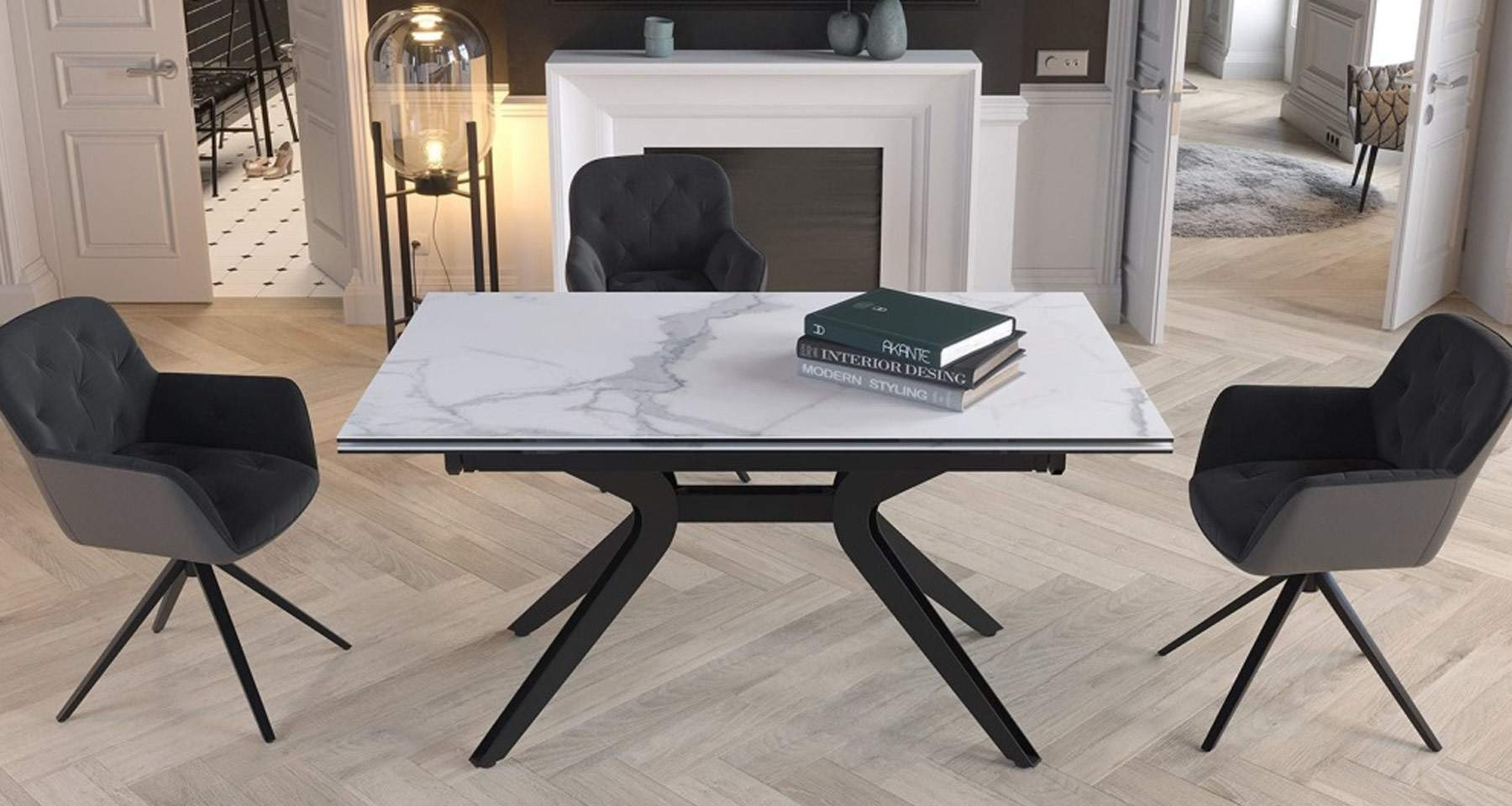 table extensible rectangle carree