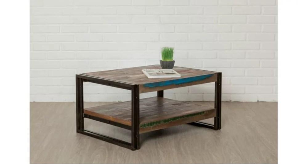 petite table basse en bois recycle colorada