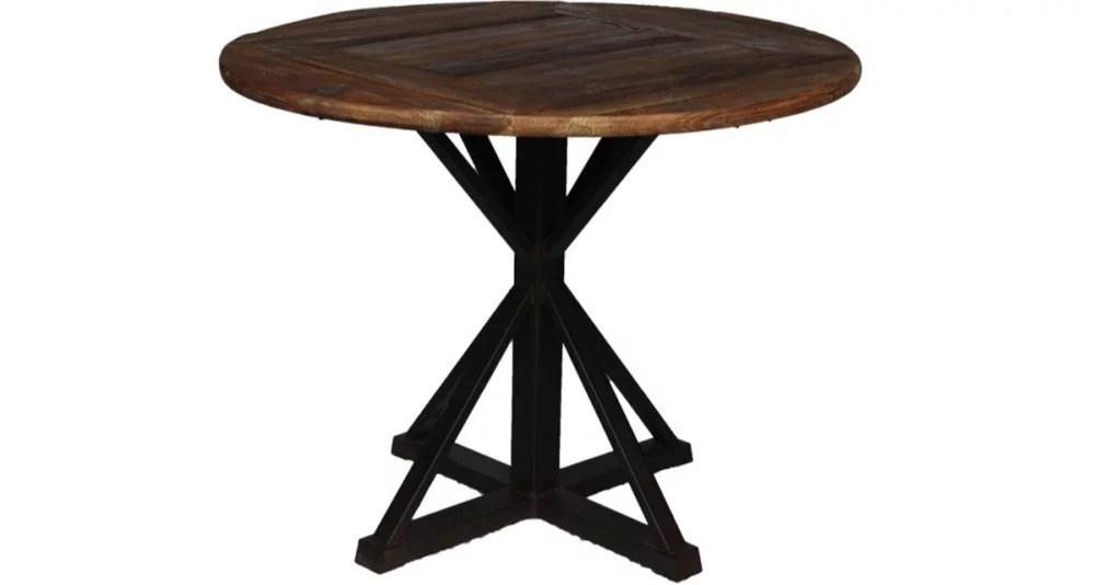 table ronde industrielle 4 personnes bostwick