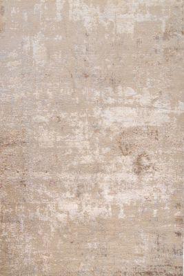 tapis wall noue main en laine fibre bambou gris 200x300