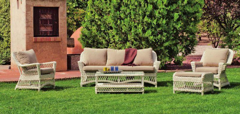 Salon de jardin Hva Dubay rsine tresse blanc ivoire 5 places  Meubles de jardin  decotaimefr