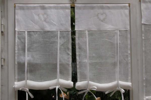 Rideau Coeur Lin - Décoration de maison idées de design d\'intérieur ...