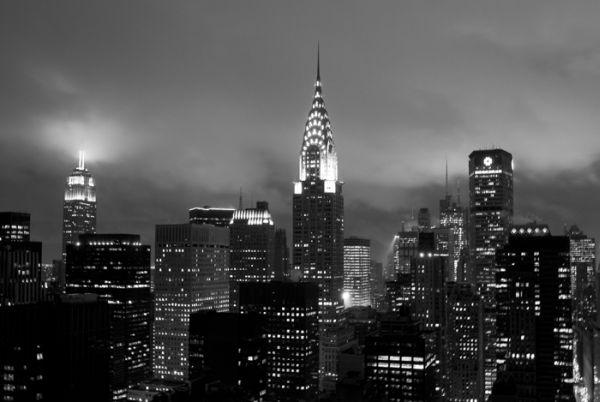 Tableau New York La Nuit 92x60 Dcoration Decotaimefr