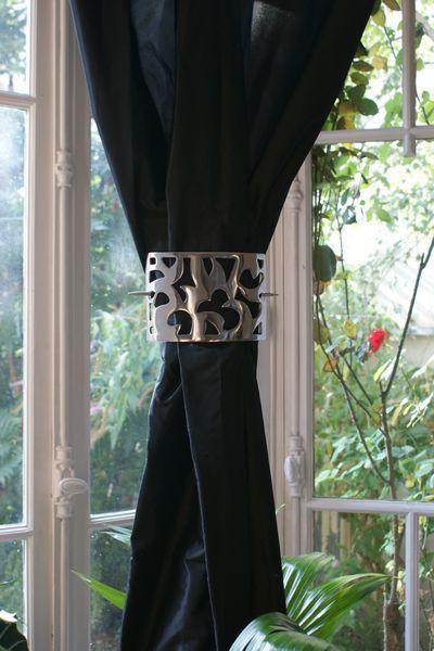 Embrasse de rideau centrale alu Arabesque 12 cm  Dcoration  decotaimefr