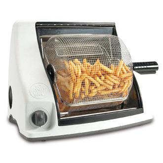 Friteuse sans huile à panier rotatif design