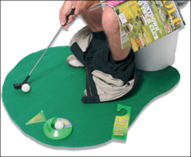 Le mini golf pour toilettes Party & Fun