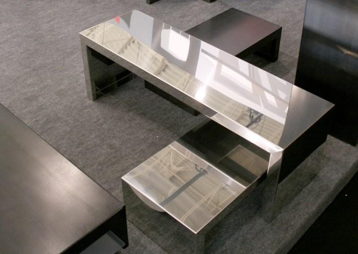 Tables basses originales - Small Inox deMaurizio Peregalli