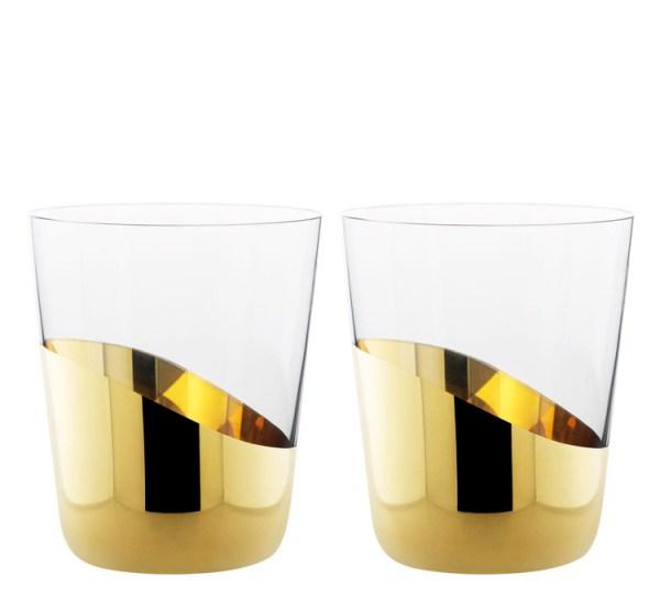 Front designers verres à eau Midas