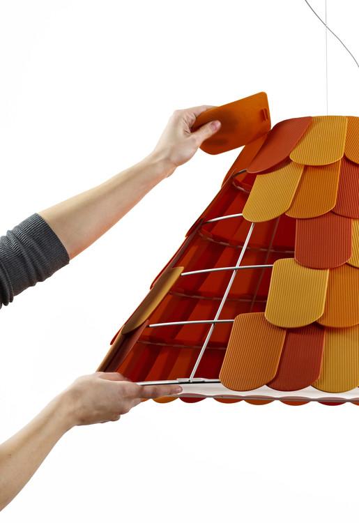 Lustre salon - Le lustre Roofer by Benjamin Hubert