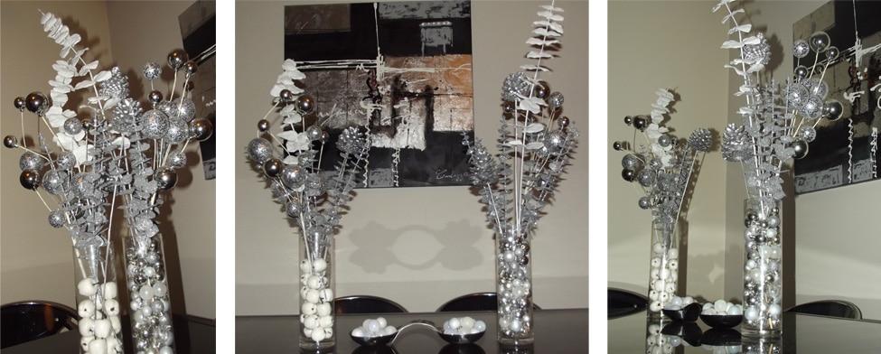 ma d coration de no l blanc et argent deco tendency. Black Bedroom Furniture Sets. Home Design Ideas