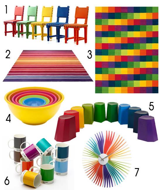 Déco colorée multicolore