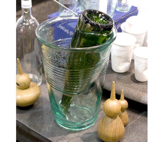 Seau à glace design : le seau à champagne XXLCrushed Glass